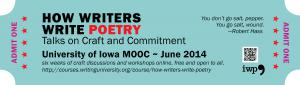 The course welcomes readers as well as writers; you can participate in workshops without submitting your own work.