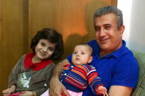 Sadek Mohammed and his children.