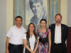 IWP alum Aazam Abidov, IWP program officer Kelly Bedeian, IWP alum Alina Dadaeva & Chris Merrill