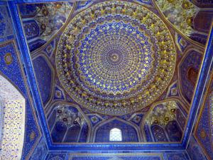 A tile ceiling at the Registan