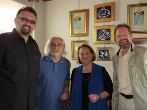 Turkish writer Emre Erdem, Nigol Bezjian, Esin Celebi Bayru (Rumi's granddaughter 21 generations removed), Chris Merrill