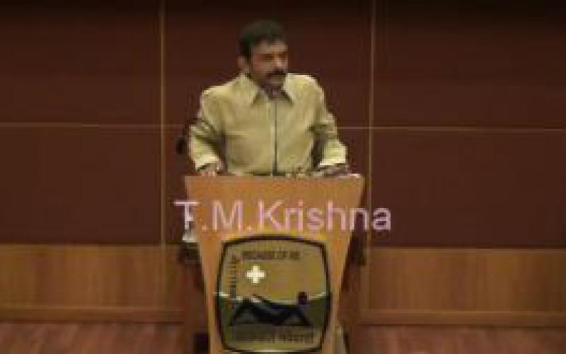 T.M. Krishna talk, Part Two