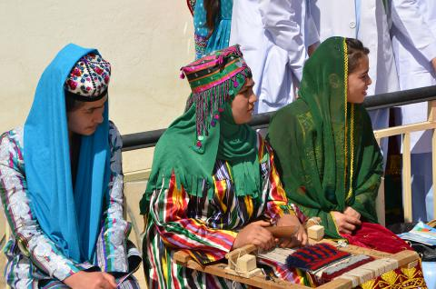 The cultural traditional dress of Afghanistan women.