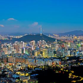 Seoul Nightview from In-Wang mountain