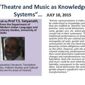 Theatre and Music as Knowledge Systems