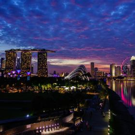 Sunset over Singapore