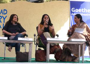 Rochelle Potkar at the Hyderabad Literary Festival.