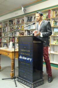 IWP writer Chandrahas Choudhury at Prairie Lights Bookstore