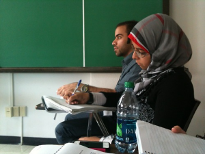 BTL students workshopped in both Arabic and English.