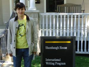 Jacob Oet, BTL Russia '12 at Shambaugh House, BTL headquarters and home of the International Writing Program.