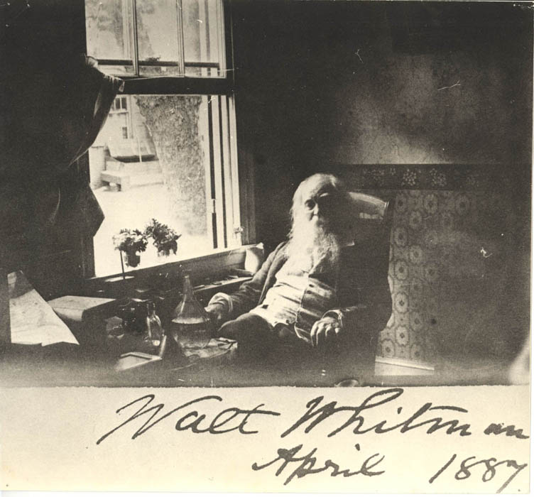 Whitman at window, Camden, 1887.