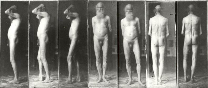 Thomas Eakins, 'Old man, seven photographs'