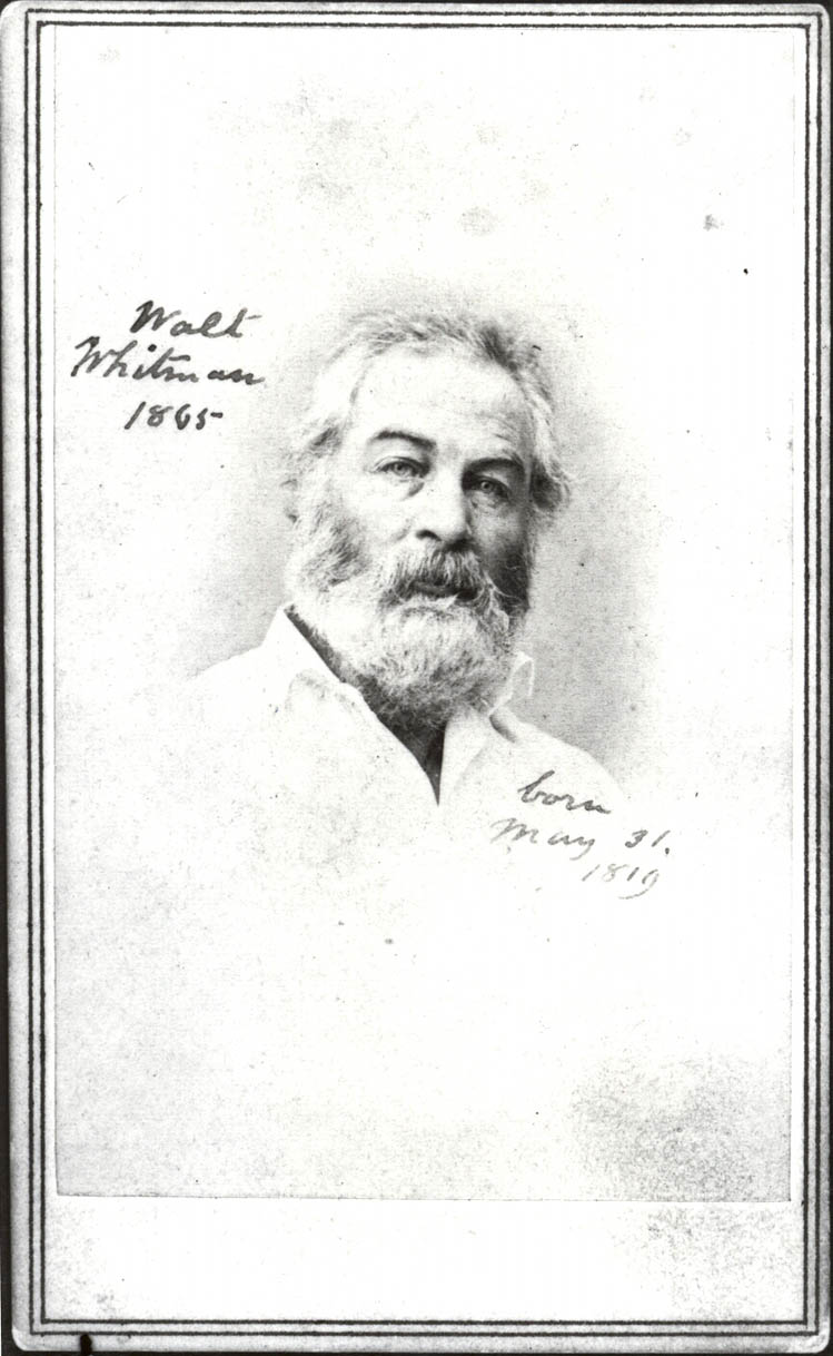 Walt, Whitman, photo A. Gardner, 1865,  white shirt.