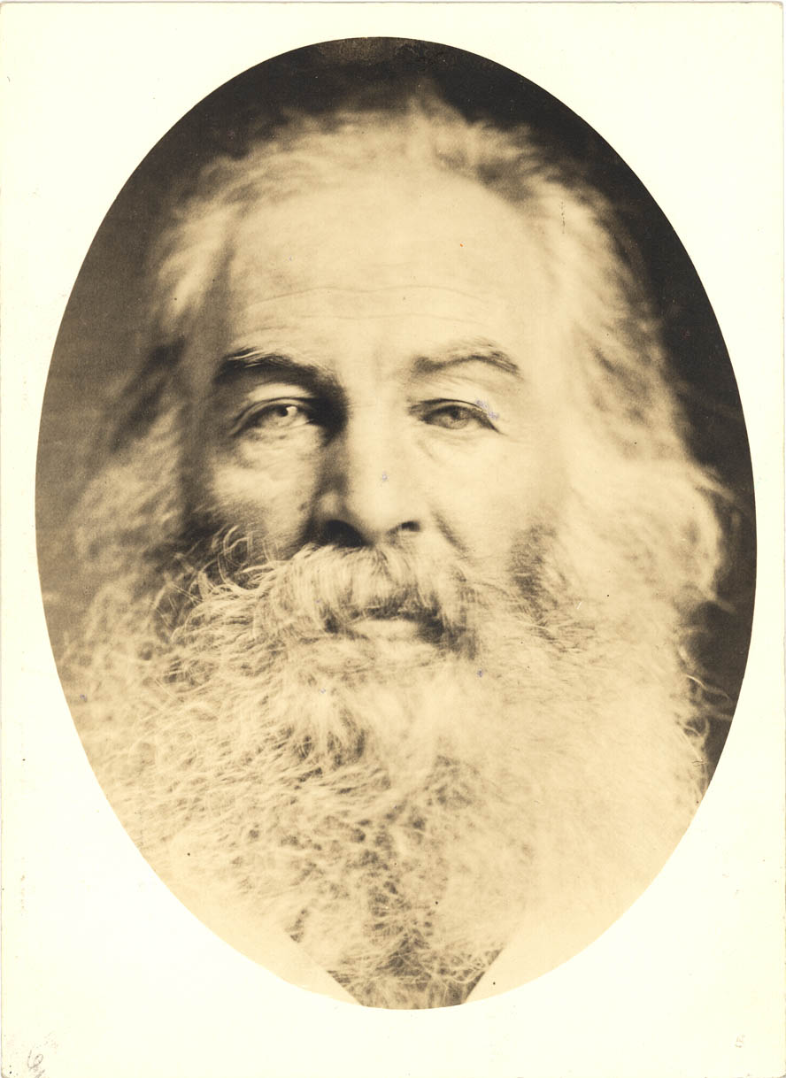 Whitman c:a 1867. Photo W. Kurtz. The straight-forward gaze.