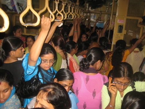 Puja Birla on train.
