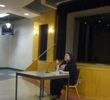 BTL guest lecturer and Arab-American author Randa Jarrar reads from her work.