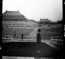 Fiction writer Amelia Gray in the Forbidden City.