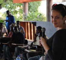 Angie Cruz leading a character development exercise at the American Corners in Port Au Prince.jpg