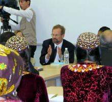 19-Chris Merrill teaching at Turkmen State University.jpg