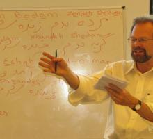 Christopher Merrill leading a discussion about Rumi and translation..jpg