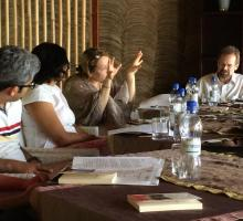 Participants discussed writing traditions, pedagogies, and practices in their home countries.jpg