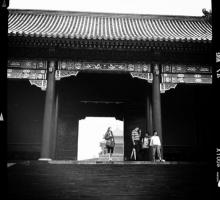 Poet Dora Malech in the Forbidden City.