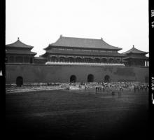 "The theme of the 2012 LOD exchange is ""Reading the City."" Appropriately, the American writers began their journey in Beijing, where they visisted the Forbidden City. Seen here, the imposing Meridian Gate."