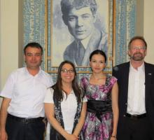14-IWP alum Aazam Abidov, IWP program officer Kelly Bedeian, IWP alum Alina Dadaeva & Chris Merrill.jpg