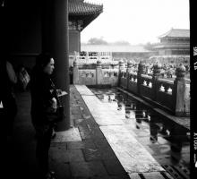 Fiction writer Kaui Hart Hemmings in the Forbidden City.