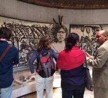 Writers toured the National Museum to learn more about Haitian history.jpg