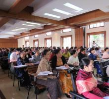 2-The auditorium at Yangon University was packed with people interested in engaging with the writers.jpg