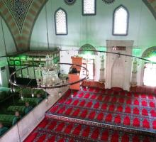 The inside of Aktekke Mosque, where Rumi's mother was buried after her death in 1224..jpg