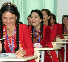 18-The students at International Turkmen Turkish University in Turkmenistan.jpg