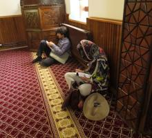 Writing at the Mosque where Shams e Tabriz may be buried..jpg