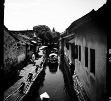 The writers visited Zhouzhuang, an historic village in Jinagsu province.