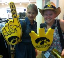 Participants showing some love for the Hawkeyes.