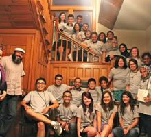 Participants wear BTL t-shirts on their last night together.