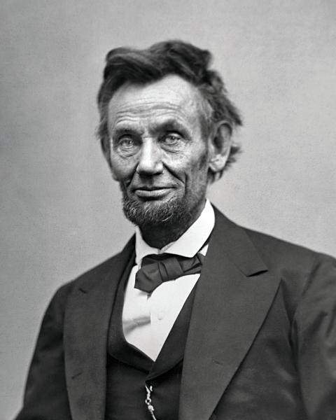 Abraham Lincoln in 1863. Photo by Alexander Gardner.