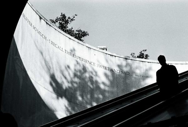 Walt Whitman inscription at the Dupont Circle station in Washington, D.C.(photo by Benjamin Ong)