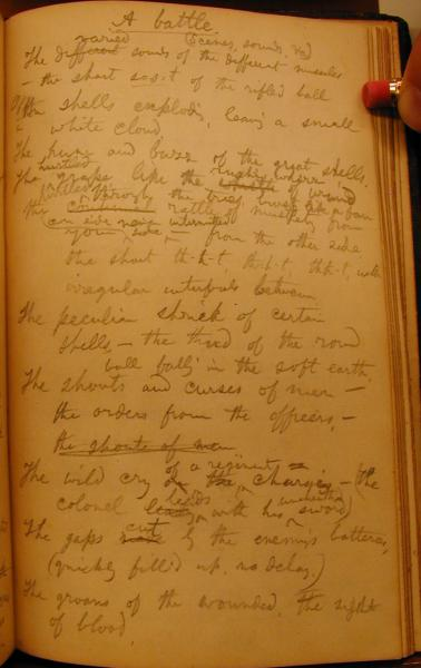 "A page from Whitman's 1863 Civil War notebook, containing the draft of lines that would find their way into ""A Veteran's Vision."" Library of Congress, Thomas Biggs Harned Collection of the Papers of Walt Whitman. Scan courtesy of the Walt Whitman Archive."
