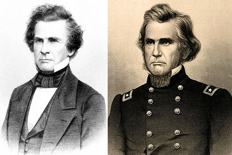 Portraits of Ormsby Mitchel as both an astronomer and Civil War Union officer.
