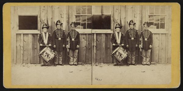 Three drummer boys who have been in 9 battles of the rebellion (photo by E. & H.T. Anthony)