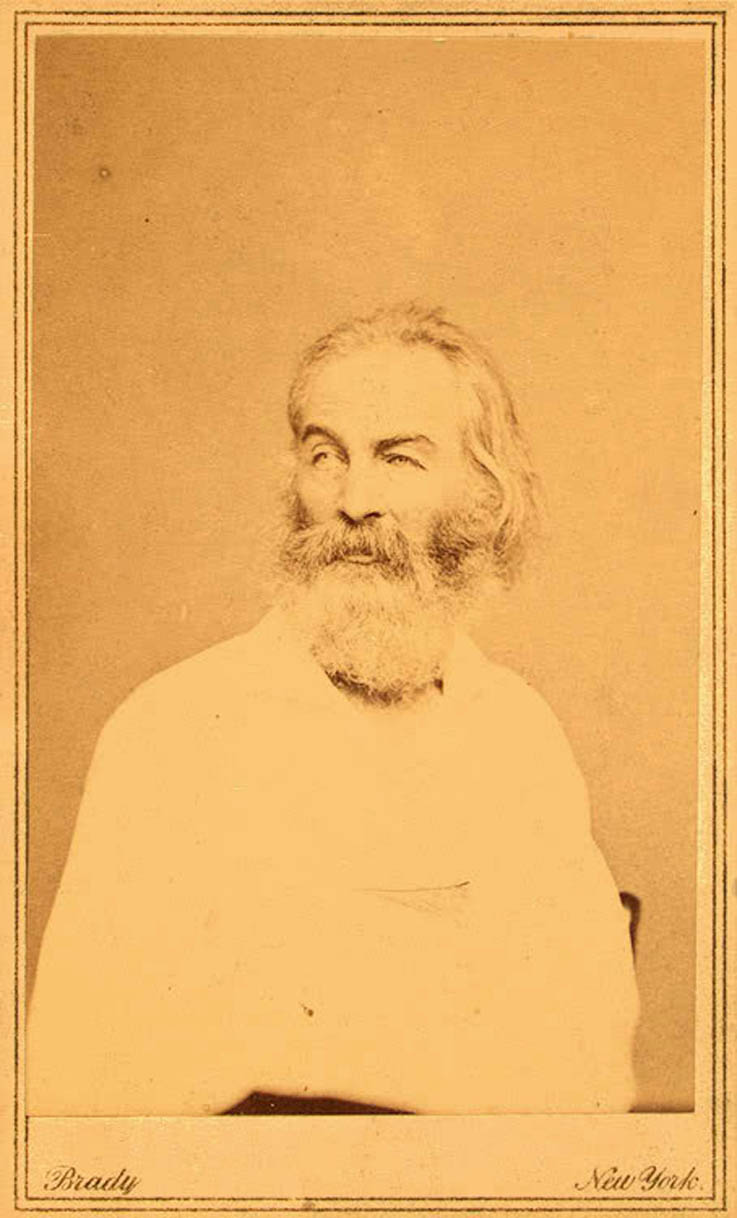 Whitman photographed by Gradner or Brady in 1862
